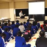 野田小 鮭の日学校給食会150